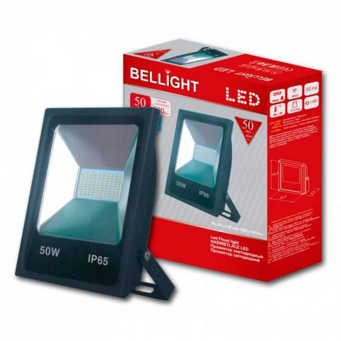 Led прожектор 50W 6500K Bellight Slim SMD